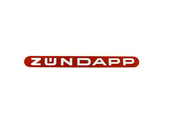 """Zündapp"" Wasserabziehbild rot/silber"